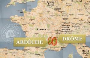 L'Ardèche & la Drôme sont deux départements voisins du sud-est de la France, en région Rhônes-Alpes.
