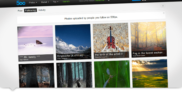 Un site internet incontournable pour s'inspirer en photo : 500px