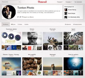 Exemple : les tableaux de Tonton Photo sur Pinterest