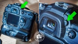 Le correcteur dioptrique permet de régler la netteté du viseur. Il s'agit d'une petite mollette située juste à côté du viseur © Tonton Photo
