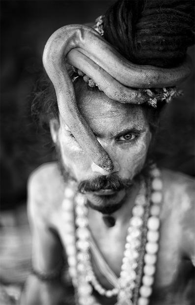 Sadhu indien de Varanasi, par Stefan Gries