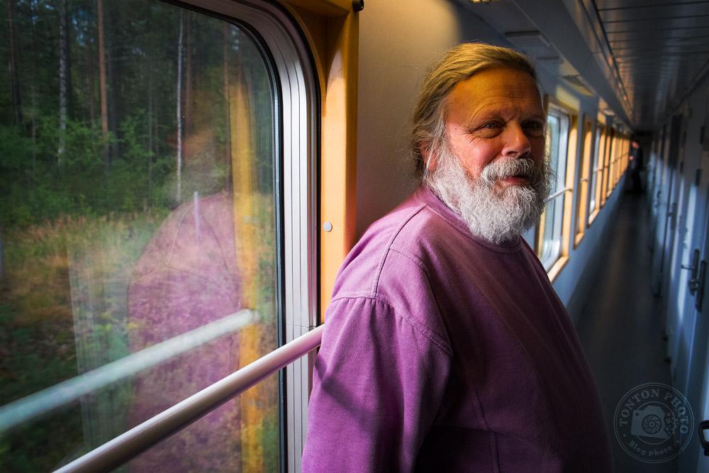 Jansen, mon voisin de couchette dans le train Stockholm-Luleå (Laponie), Suède © Clément Racineux / Tonton Photo