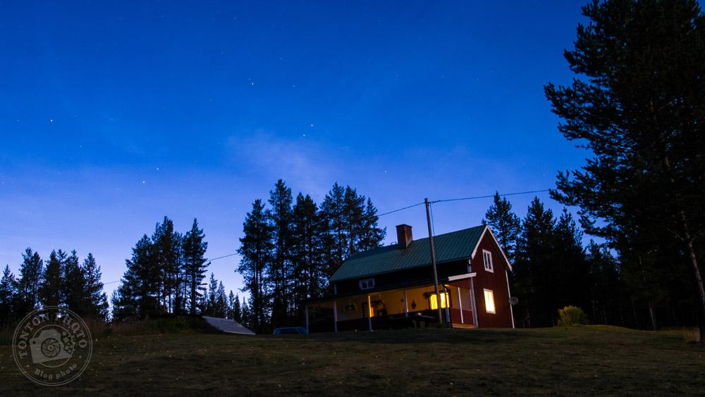 La petite maison bien accueillante de Laponie Mush, dans la forêt. Laponie suédoise © Clément Racineux / Tonton Photo