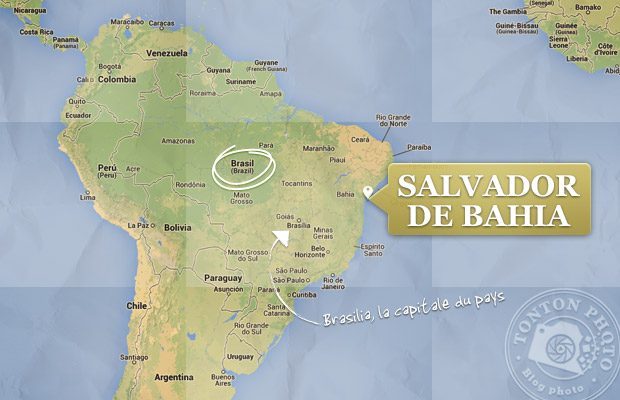 Carte de Salvador de Bahia, Brésil © Tonton Photo