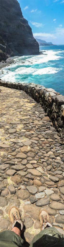 Vue spectaculaire sur l'océan Atlantique. À la sortie de Ponta do Sol, sur le chemin de Cruzinha da Garça, Santo Antão, Cap Vert © Clément Racineux / Tonton Photo