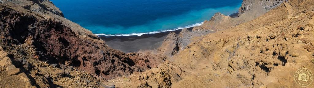Les splendides couleurs de la rencontre entre chaos de roches volcaniques et océan ! Baia de Monte Trigo, Santo Antão, Cap Vert © Clément Racineux / Tonton Photo