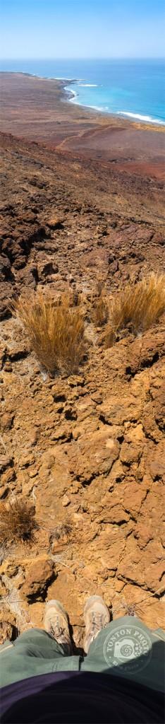 Extraordinaire point de vue panoramique depuis le sommet du cratère Curralinho. Tarrafal de Monte Trigo, Santo Antão, Cap Vert © Clément Racineux / Tonton Photo
