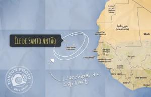 Carte du Cap Vert : îles de Santo Antão et São Vicente © Tonton Photo