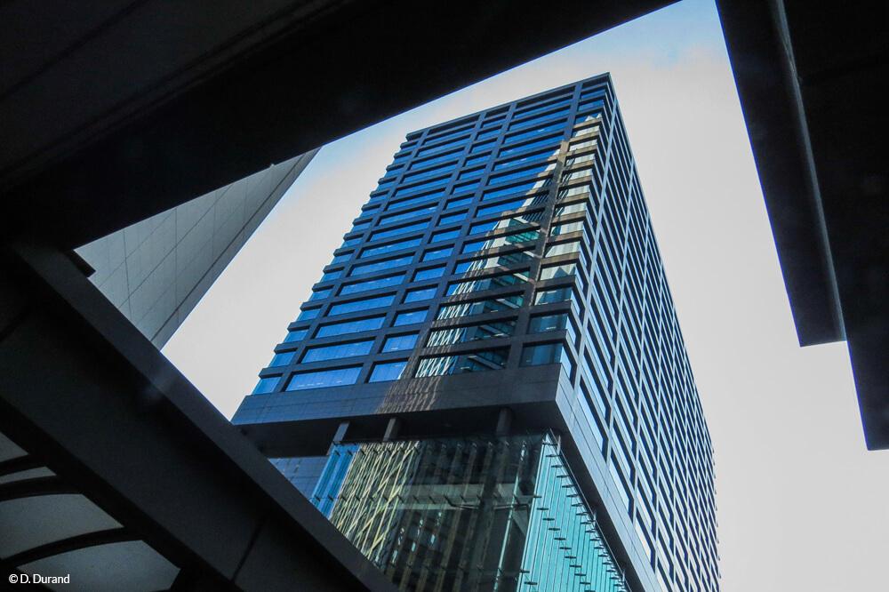 Architecture, quartier de Shiodome, Tokyo © D. Durand