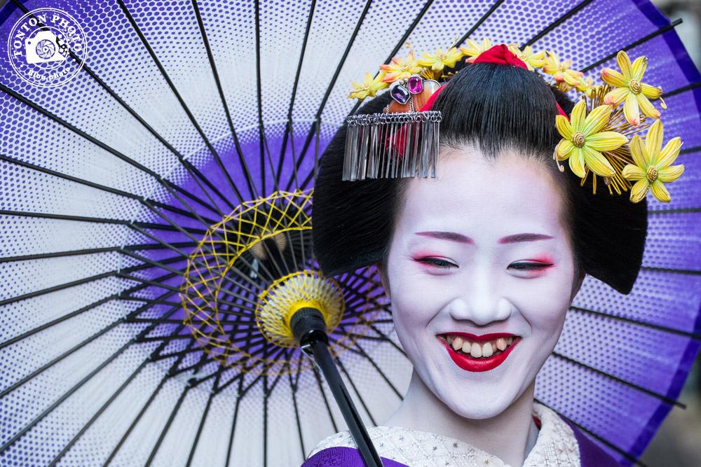 Portrait de geisha. Quartier de Gion, Kyoto, Japon © Clément Racineux / Tonton Photo