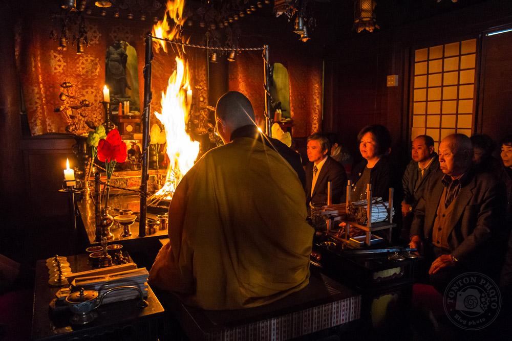 Cérémonie du bouddhisme Shingon dans le monastère d'Eko-in, Koyasan, Japon © Clément Racineux / Tonton Photo