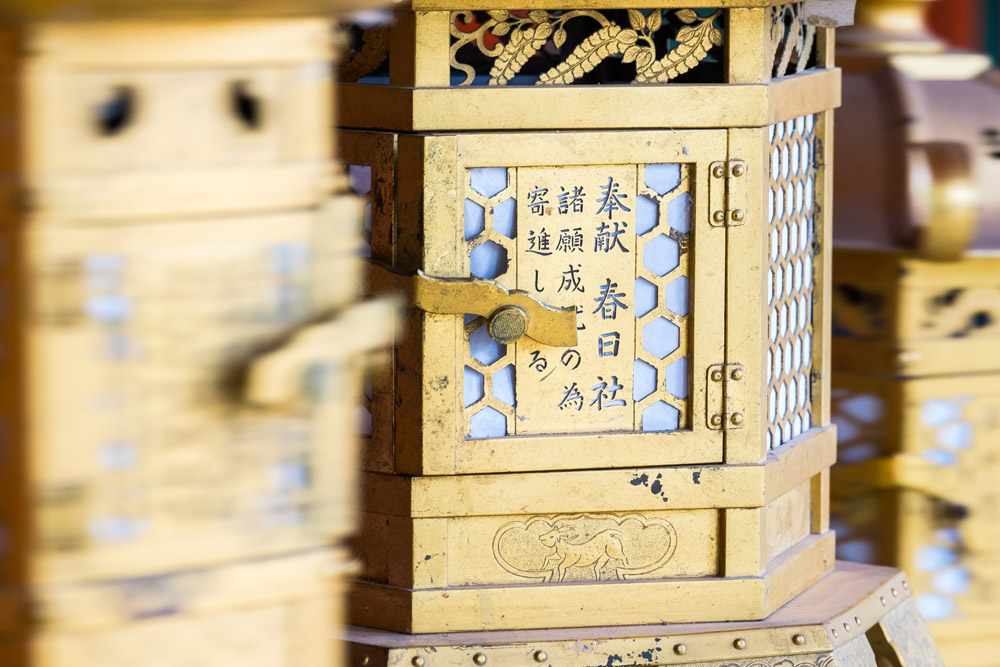 Lanternes dans le temple shinto Kasuga Taisha, Nara, Japon © Clément Racineux / Tonton Photo