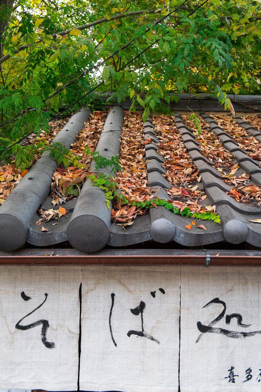 Photo d'ambiance. Noren et tuiles typiquement japonaises d'un petit restaurant de Nara, Japon © Clément Racineux / Tonton Photo