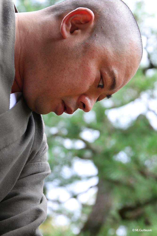 Portrait d'un moine bouddhiste zen. Monastère Shunko-In, Kyoto, Japon © M. Guilleuvic