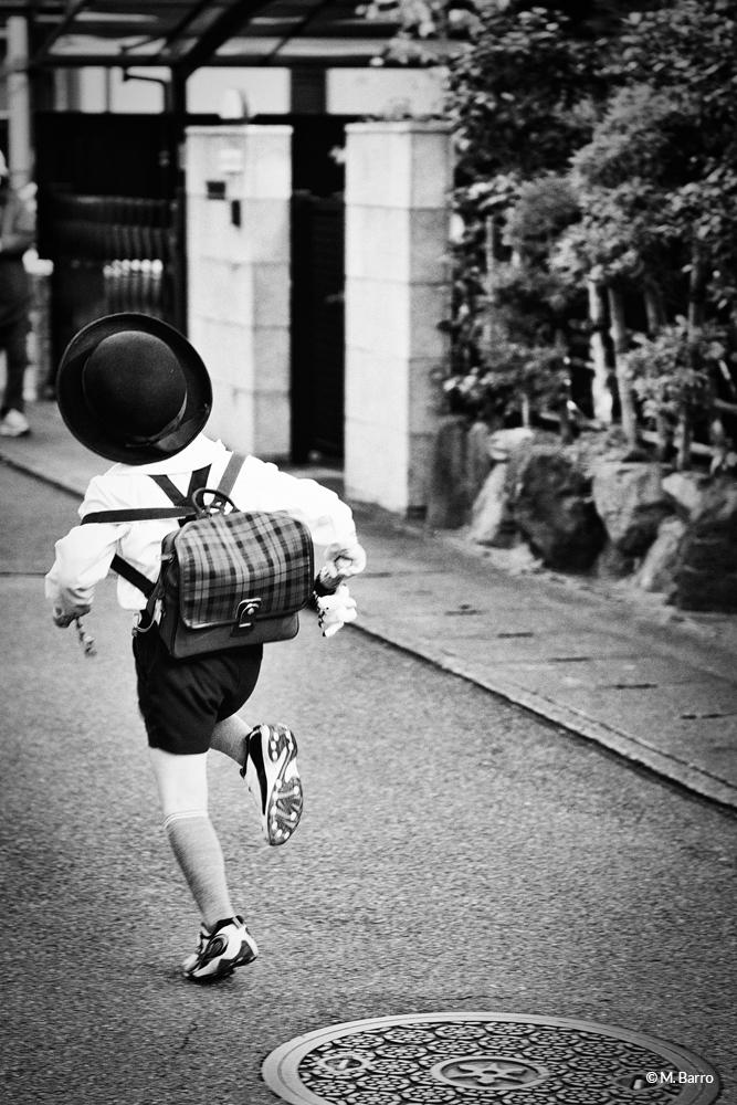 Écolier pressé, Nara, Japon © M. Barro