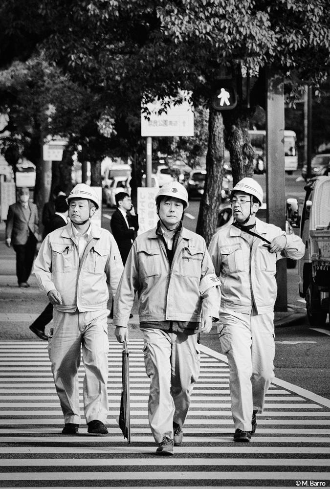 Ouvriers de retour du travail, Nara, Japon © M. Barro