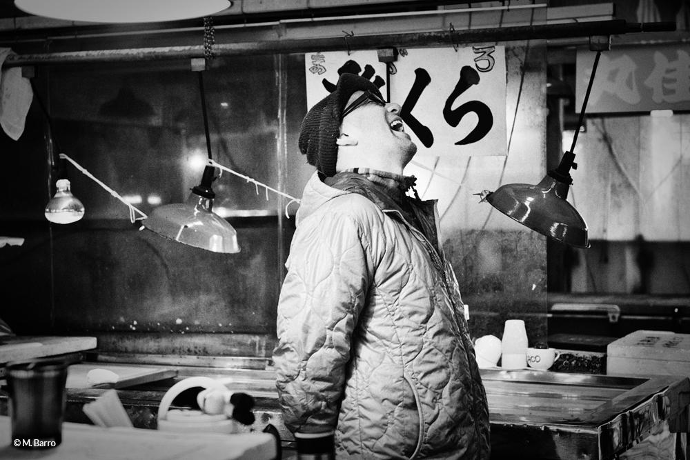 Sur le marché aux poissons et fruits de mer de Tsukiji, Tokyo, Japon © M. Barro