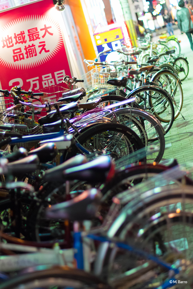 Accumulation de vélos, Osaka, Japon © M. Barro