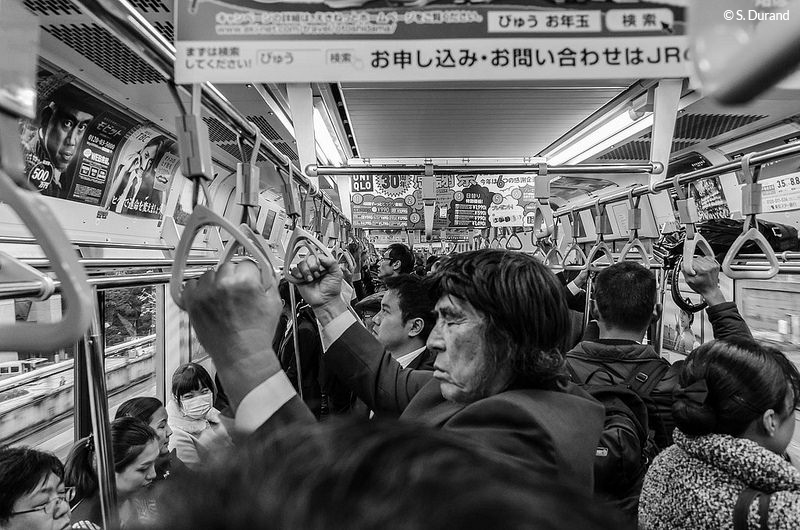 Dans le métro de Tokyo, Japon © S. Durand