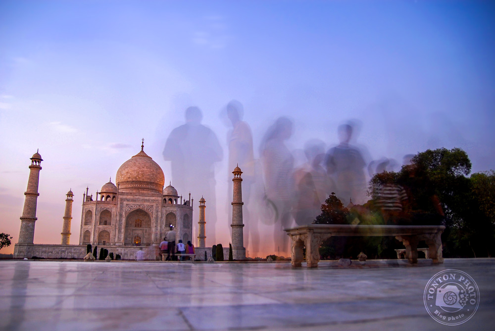 Coulisses d'une photo : Le Taj Mahal, à Agra, en Inde © Clément Racineux / Tonton Photo