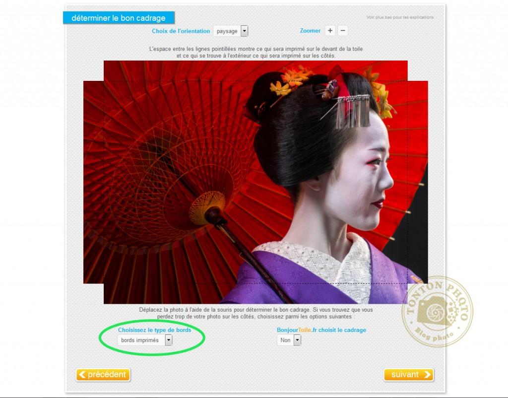 """J'ai testé pour vous l'impression de photo sur toile, sur le site bonjourtoile.fr : option de cadrage """"bords imprimés"""" © Tonton Photo"""