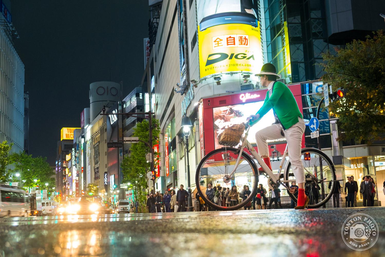 Photo de nuit dans le quartier de Shibuya, Tokyo, Japon © Clément Racineux / Tonton Photo