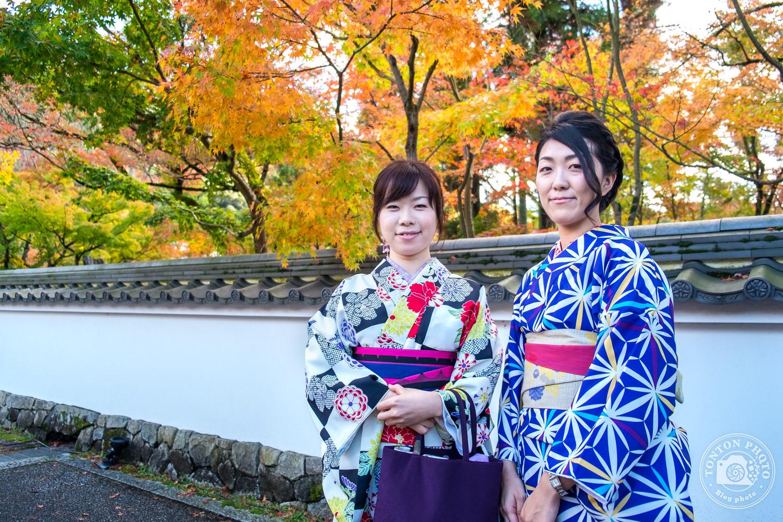 Japonaises en kimono et couleurs d'automne, temple Eikando, Kyoto, Japon © Clément Racineux / Tonton Photo