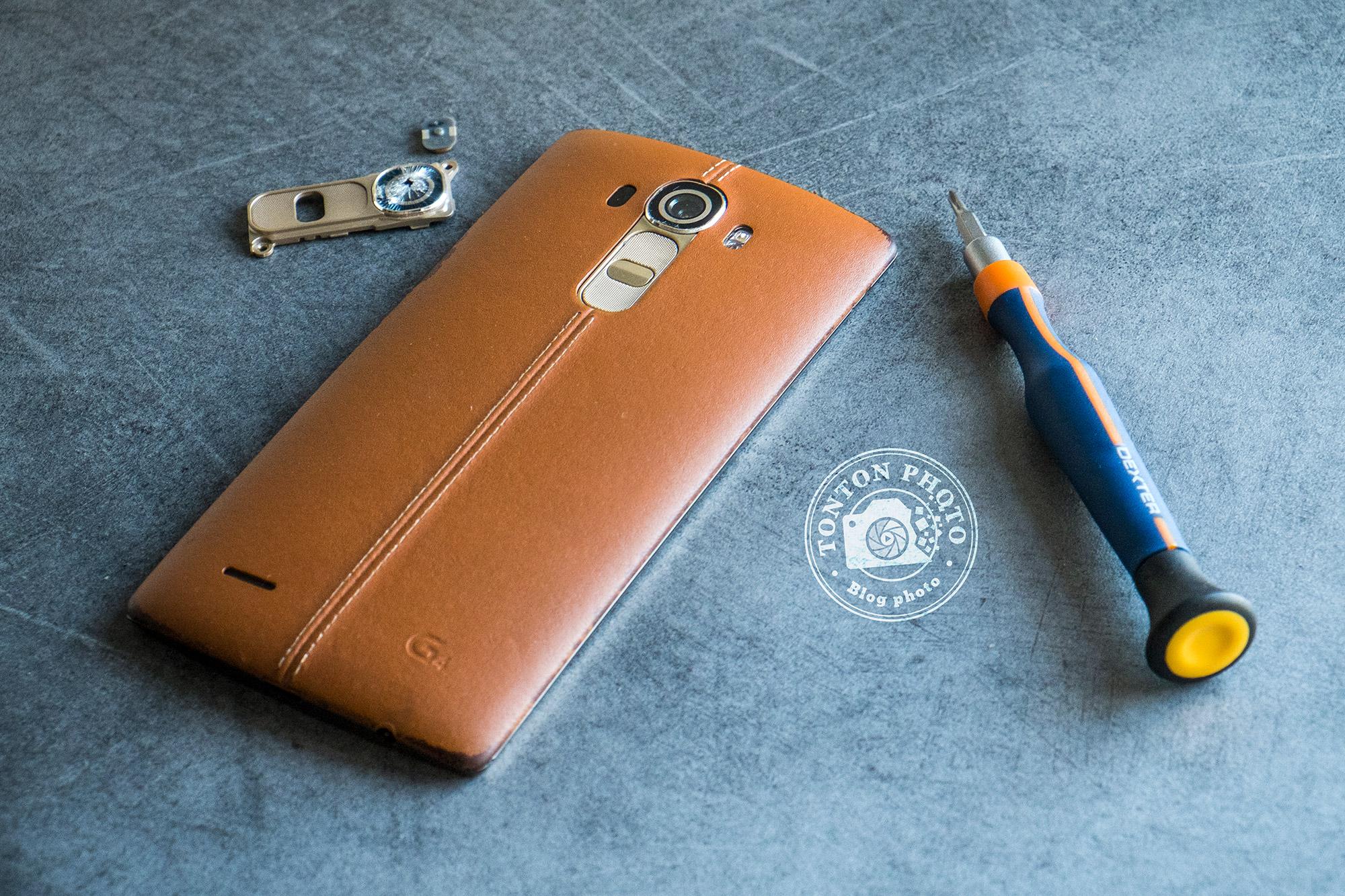 Et voici la nouvelle lentille photo du LG G4 installée en quelques minutes :) © Clément Racineux / Tonton Photo
