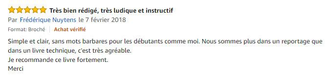 """Commentaire sur Amazon d'un lecteur du livre """"Les coulisses d'une photo"""", de Clément Racineux - Tonton Photo"""