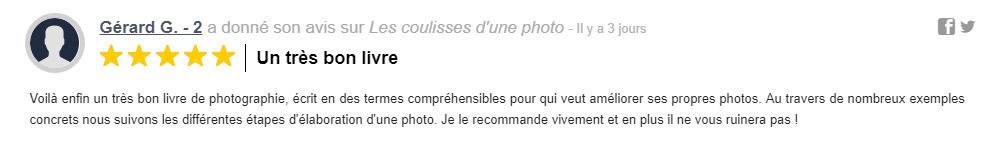 """Commentaire sur Decitre d'un lecteur du livre """"Les coulisses d'une photo"""", de Clément Racineux - Tonton Photo"""