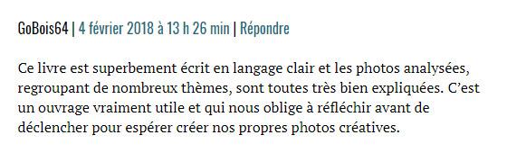 """Commentaire sur Nikon Passion d'un lecteur du livre """"Les coulisses d'une photo"""", de Clément Racineux - Tonton Photo"""