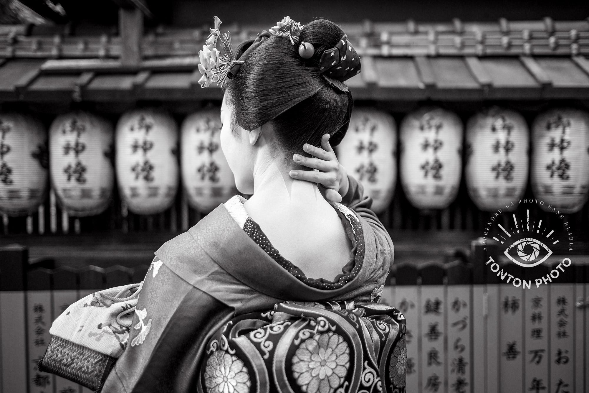 Portrait : Délicatesse et raffinement d'une geisha du quartier de Gion, à Kyoto, Japon © Clément Racineux / Tonton Photo